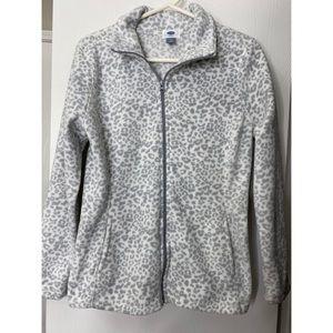 OLD NAVY fleece cheetah print jacket